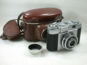 Zeiss-Ikon-Contina-527-24-Film-Camera-Case-Zeiss-1110-Hood-No-H21664