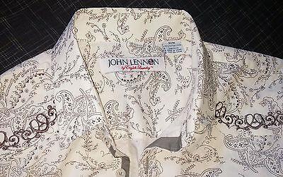 ENGLISH LAUNDRY Shirt - John Lennon - Embroidered Paisley - 100% Cotton - M