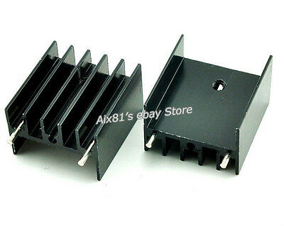 10pcs 25x23x16mm IC Electronic Aluminum Heat Sink Transistors for TDA7294/L298