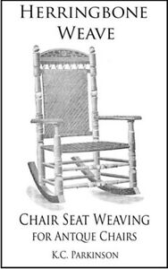 Herringbone Weave - Chair Seat Weaving for Antique Chairs - antique vintage old