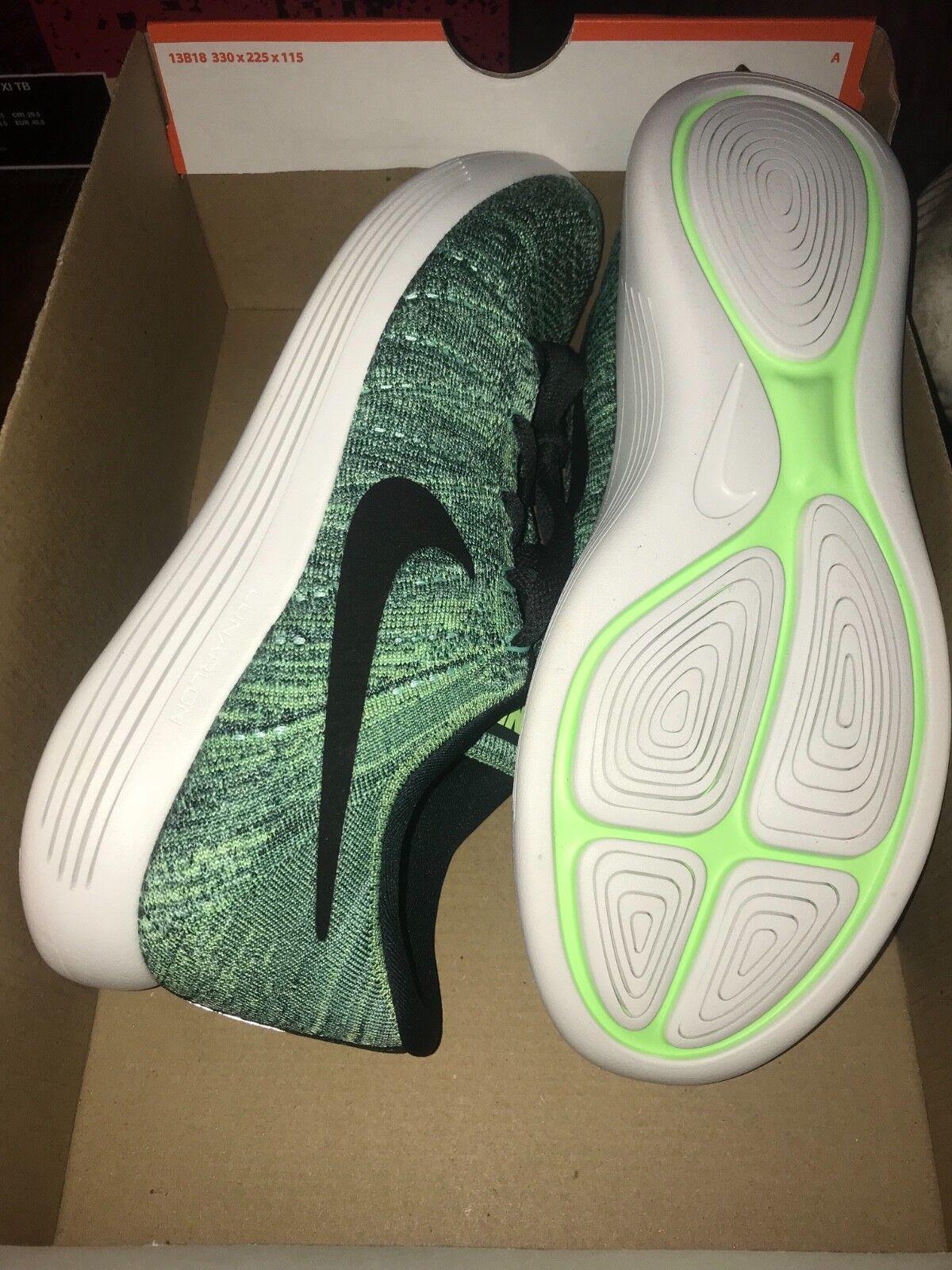 Men's Men's Men's Nike LunarEpic Low Flyknit Running Seaweed Green   Black Sz 10 843764 300 0d611c