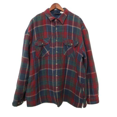 Vintage Briggs Men's Plaid Flannel Jacket Quilted