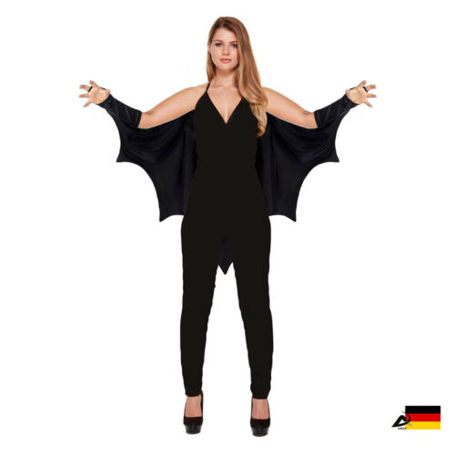 Bat Cape Chauve-Souris Ailes Halloween Mardi Gras Adultes Vampire Gothique Déguisement