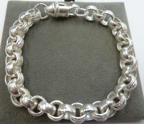 "Sterling Silver 925 Plain /& Patterned 8 1//2/"" Belcher Bracelet 31 grams 8.8mm"