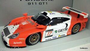 Modèles réduits au 1/18 - 39722 Porsche 911 Gt1 1997 E. Collard / M. Baldi Giesse