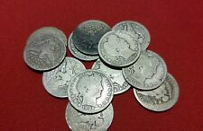 LOT OF (5) Barber Silver Quarter CULL Coins / 1892-1916 / 90% Silver / Antique