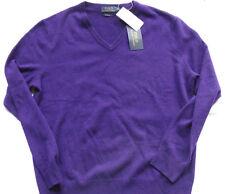 """POLO RALPH LAUREN 100%  Cashmere Sweater """" DARK PURPLE"""" Gr M"""