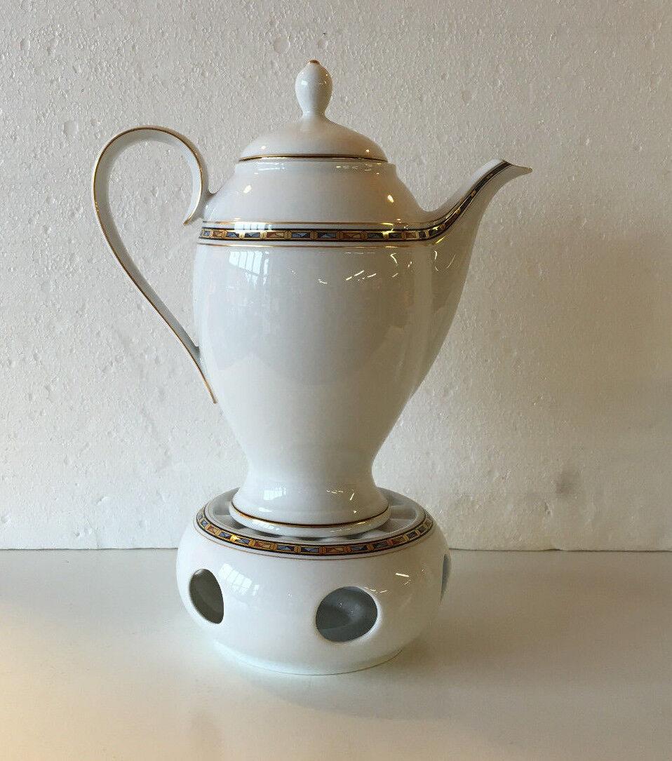 Königlich Tettau Stövchen m. Kaffeekanne, Form Opal, Dekor Fortune  NEUWARE