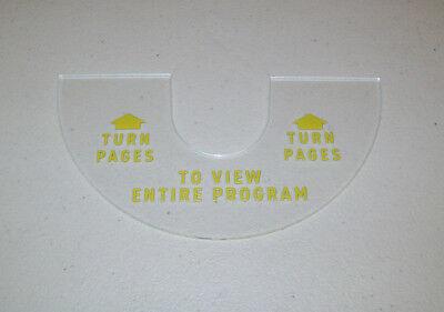 "Seeburg 3WA or 3W160 Wallbox /""Turn Pages/"" Plastic Ring"