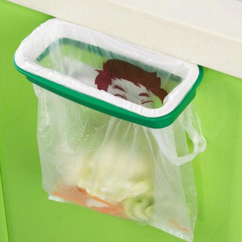 Folding Hanging Trash Rubbish Bag Holder Garbage Rack Cupboard Storage Hanger Wr