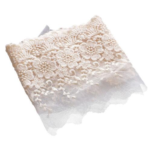 Vintage Style Lace Trim Crochet Beige White Clothing Sewing Bridal Ribbon