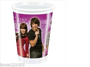 480-x-Disposable-Cup-Party-Glass-Disposable-Glasses-Cups-Camp-Rock-by-DISNEP