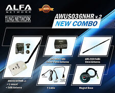 Combo Alfa AWUS036NHR v2 2000mW Wi-Fi DEAL 3 antennas all Original