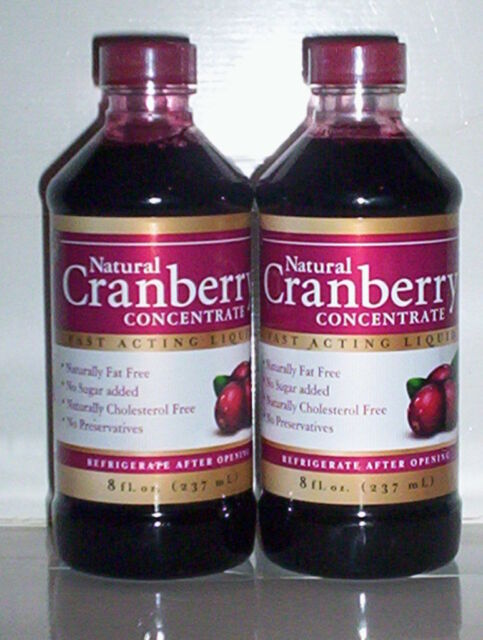 CRANBERRY JUICE CONCENTRATE FULL BODY URINARY TRACT CLEANSING 16 FL OZ 2 BOTTLES