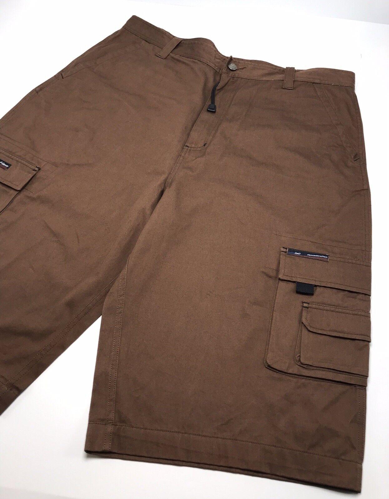 Men's Fubu Brown Casual Carpenter Denim Shorts