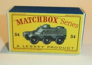Matchbox-Lesney-No-54-Saracen-Armoured-empty-Repro-style-D-Box