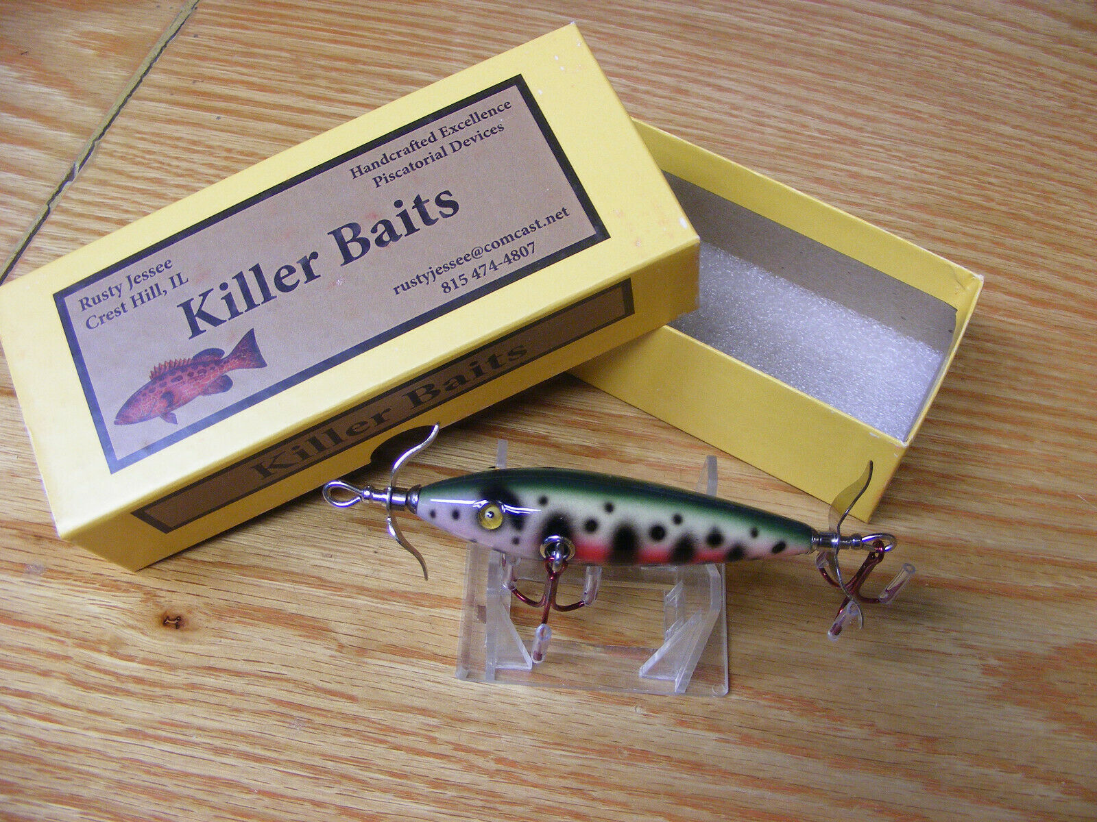 Killer Baits Rusty Jesse Heddon Little Sac Style Glasseye 100 in Spotted Trout