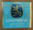 VINTAGE AMERICAN BEER LABEL - MILLERS BREWERY, LOWENBRAU BEER 12 FL OZ