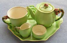 Royal Winton Tiger Lily Green 6-Piece Breakfast Tray Set