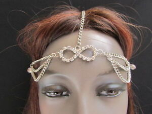 WOMEN-SILVER-HEAD-CHAIN-FASHION-JEWELRY-GRECIAN-CIRCLET-BEADS-INFINITY-CHARM-HOT