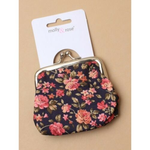 Ladies//Girls Clasp Coin Purse Various Floral Printed Designs TRUSTED UK SELLER