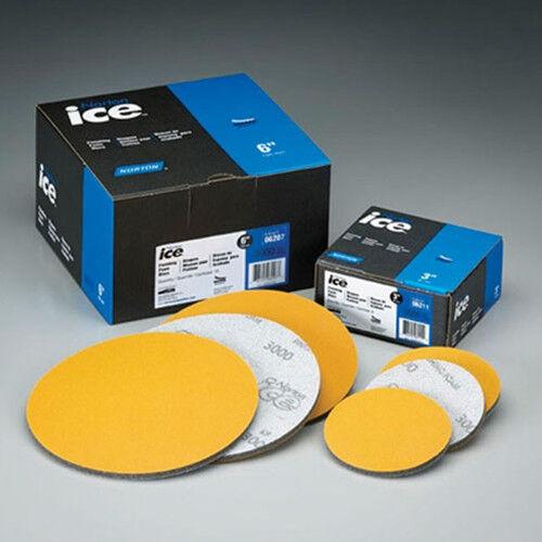 "Norton Ice 3000 NorGrip Finishing 6/"" Foam Discs Grade 3000 06013 15 discs"