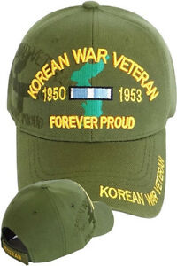 9a6c96ac5ff Korean War Veteran Ball Cap US Army Navy USMC USAF Korea Olive Drab ...
