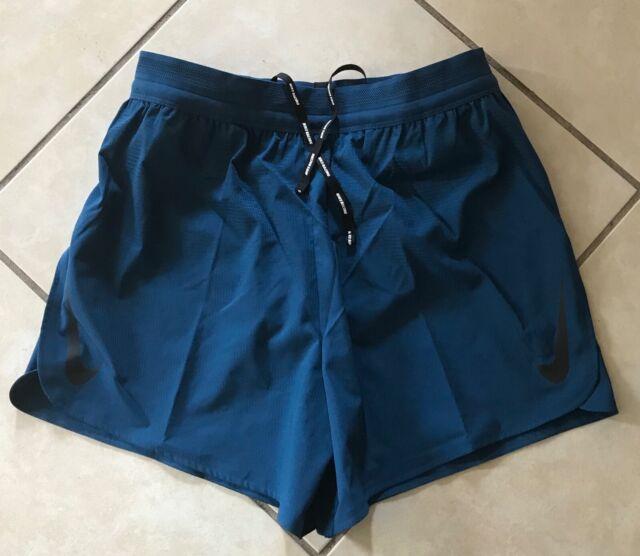 Mens Nike 5 Inch Aeroswift Blue Running Shorts Aq5302 492 Size L