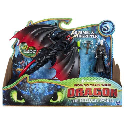 DreamWorks Dragons Deathgripper Grimmel et blindés Viking Figure-NEUF