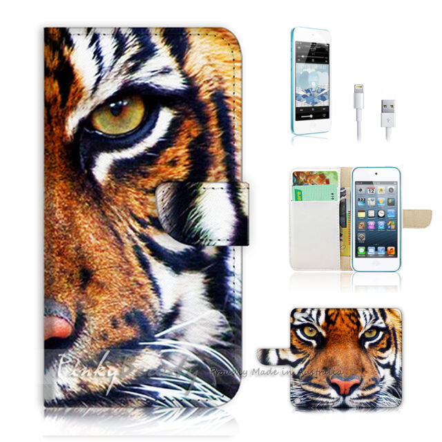 ( For iPod 5 / itouch 5 ) Flip Case Cover! Tiger Face P0029