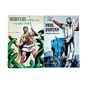 Hercules Greek Myths Paul Bunyan Swings His Axe 2 Vintage Scholastic PB