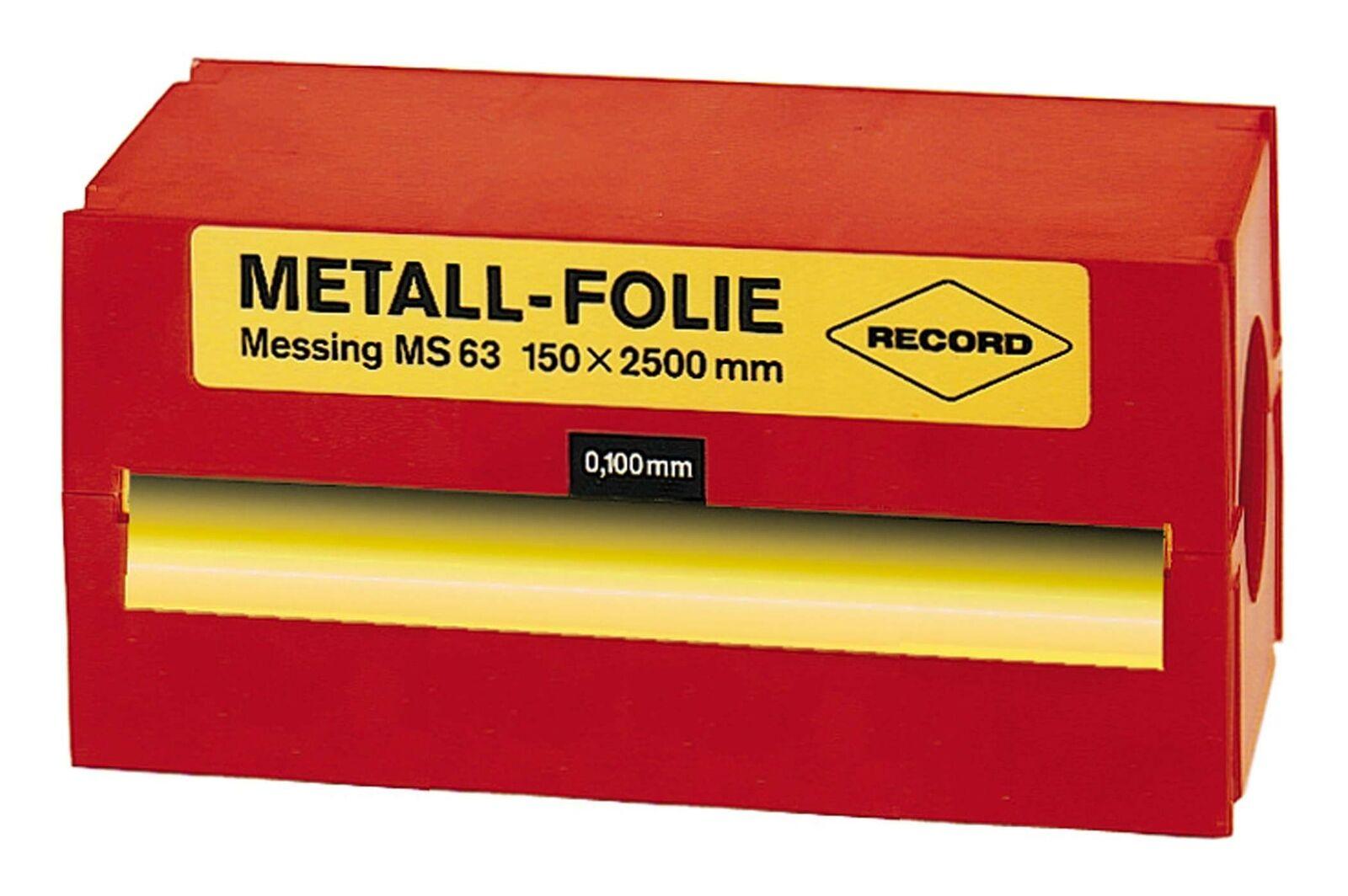 Record Metallfolie Stahl rostfrei 150 x 2500 x 0,500mm - SN0,500