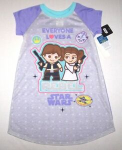 4bc035bb4fbb Image is loading Nwt-New-Disney-Star-Wars-Caricature-Nightgown-Pajamas-