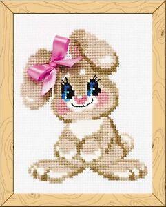 Riolis Hb105 Bebé Rabbit Kit De Bordado Punto De Cruz Fácil Ebay