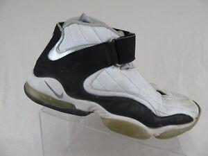 c91093bcbf72 NIKE Air Max Penny 4 IV White Black Sz 10.5 Men Basketball Shoes