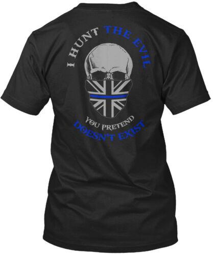 Am Sheepdog You Pretend Standard Unisex T-shirt Thin Blue Line I Hunt The Evil