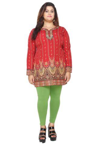 UK STOCK PLUS SIZES Women Indian Kurti Kurta Pakistani Tunic Shirt eplus111D