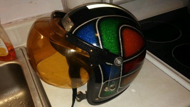 Vintage motorcycle helmet bubble shield retro collectors screaming 70s !!
