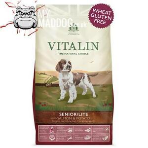 Details About 12kg Vitalin Naturals Salmon Potato Senior Lite Complete Dog Food No Wheat