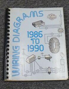 1990 Harley Davidson Softail Motorcycle Electrical Wiring Diagrams Manual Ebay