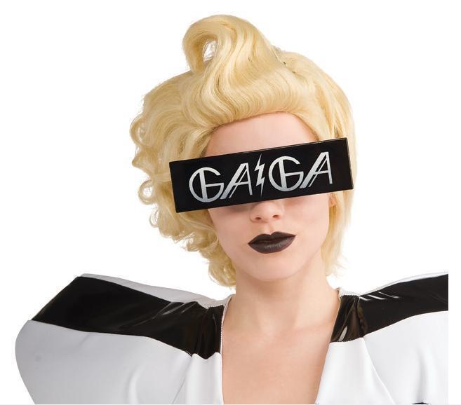 Copieux Lady Gaga Lunettes De Soleil Imprimé Noir Costume Lunettes Bolt Bon GoûT