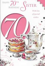 Wonderfully Worded For A Special Sister 70 Today 70th Birthday Greeting Card