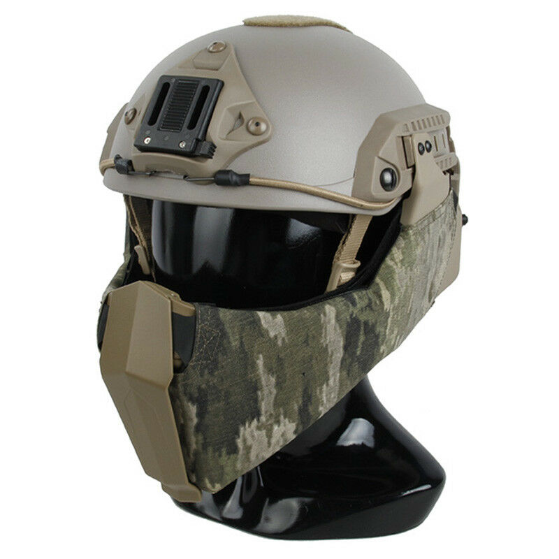 TMC2889-ATIX Airsoft Half Face Mask For High Cut Maritime Tactical Helmet