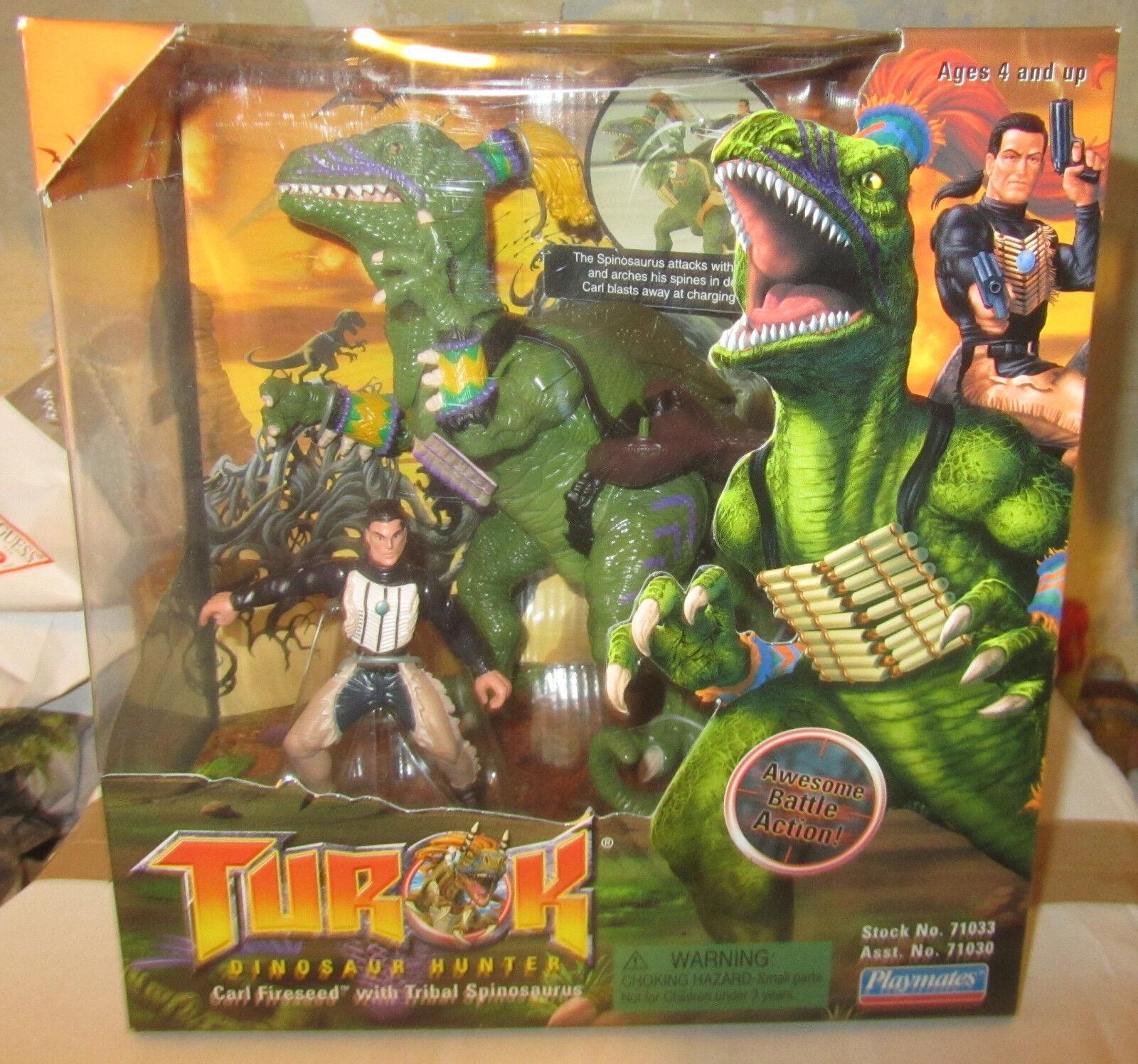Turok Dinosaur Hunter Primagen with Triceratops Bionosaur Playmates SPESE GRATIS