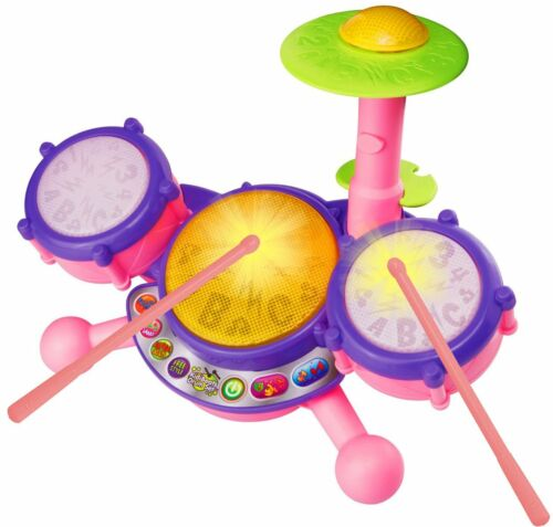 Educational Toys Baby Kids Toddlers Boy Girl Learning Drum Set 4 Modes Of Play
