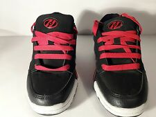 HEELYS Sz YOUTH 5, Style # 7919, BLACK AND RED, YOUTH/KIDS/ SKATE SHOES