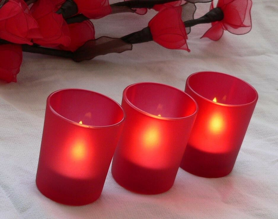 120 Red Shot Glass Cup Tealight Candle Holder Wedding Party Birthday Anniversary
