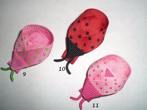 You Choose 1 Ladybug Hair Bow Snap Clip