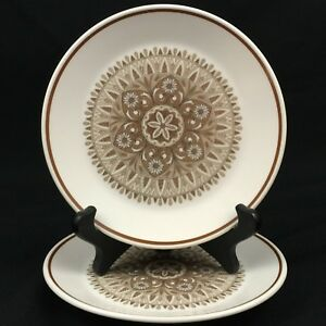 Set-of-2-VTG-Bread-Plates-6-1-4-034-by-Noritake-Progression-Century-9044-Japan