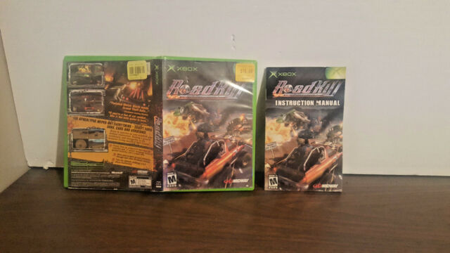 RoadKill (Microsoft Xbox, 2003) Case & manual only NO GAME